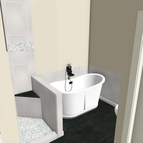 3D rendering Bathroom Renovation Project in Anderson, SC